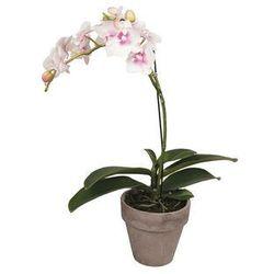 Sztuczny kwiat w donicy orchidea SIA LARA – wysokość 42 cm – kolor jasny różowy