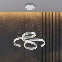 Lampy sufitowe, Trio Francis 371310105 lampa wisząca zwis 1x52W LED 3000K szczotkowane aluminium