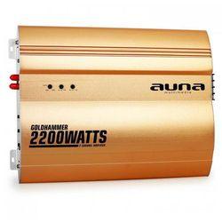 Auna Goldhammer 2-kanałowy wzmacniacz samochodowy 2200W