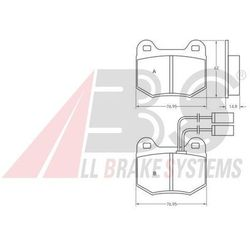 A.B.S. - Zestaw klocków hamulcowych, hamulce tarczowe