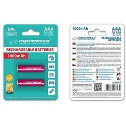 Akumulatorki AAA Esperanza EZA101R 1000mAh Ni-MH Akumulatory akumulator 2 sztuki Czerwone
