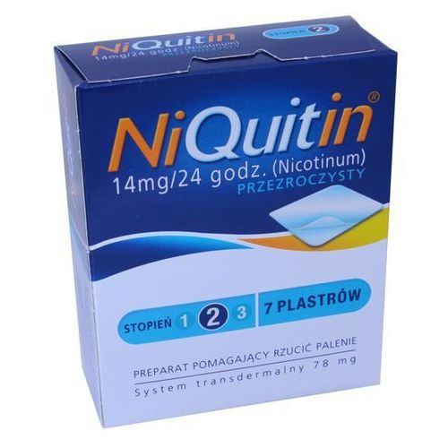 Plastry nikotynowe, NiQuitin plast. 14mg/24h x 7