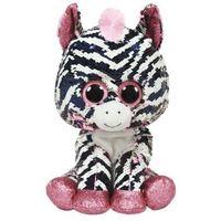 Pluszaki pozostałe, Maskotka Beanie Boos Flippables Cekinowa Zebra Zoe 15 cm