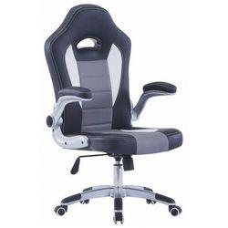 Szary fotel gracza z podnoszonymi podłokietnikami - Foris