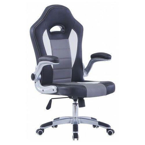 Fotele dla graczy, Szary fotel gracza z podnoszonymi podłokietnikami - Foris