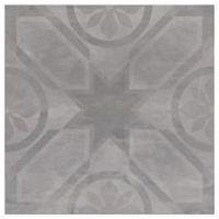 Gres, płytka gresowa Silent Stone rozeta (carpet) szary 45 x 45 (gres) OP621-002-1