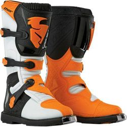 THOR BUTY YOUTH BLITZ S6 OFFROAD WHITE/ORANGE =$