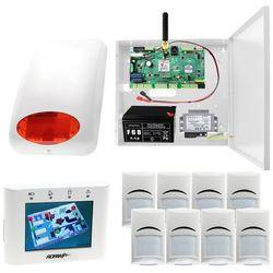 System alarmowy Ropam Optimagsm-PS + 8x Czujka PIR Bosch + Sygnalizator