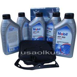 Półsyntetyczny olej MOBIL ATF320 oraz filtr oleju skrzyni biegów 4-spd Jeep Cherokee 2002-