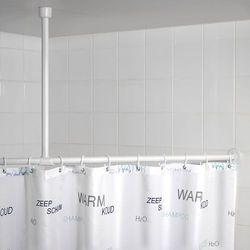 Uchwyt do zawieszenia drążka od zasłony prysznicowej, Ø 2,5 cm, 57 cm, chrom, WENKO