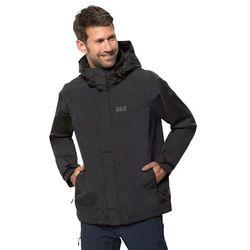 Męska kurtka przeciwdeszczowa THREE PEAKS JACKET M black - XL