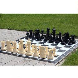 Mały zestaw do szachów ogrodowych król 20cm - figury + szachownica winylowa