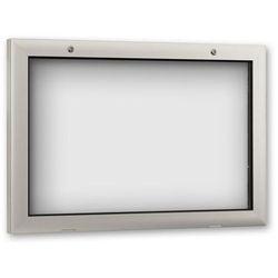 Gablota do zastosowania wewnątrz i na zewnątrz budynku, otwieranie drzwi o 180°
