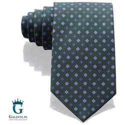 Zieony włoski krawat jedwabny Arcuri 14828/7