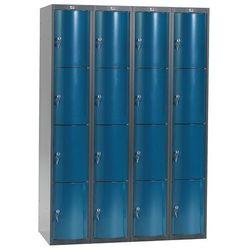 Szafa szatniowa Curve 4 sekcje 16 drzwi 1740x1200x550 niebieski metalik