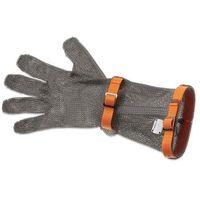 Rękawice robocze, Rękawica metalowa z pomarańczowymi paskami, długa, rozmiar XL | GIESSER, 9590 15