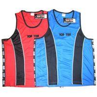 Pozostałe sporty walki, Koszulka bokserska TOP TEN - KBOX-TT1 - czerwono-czarny