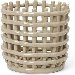 Kosz do przechowywania ferm living 14,5 cm kaszmirowy ceramiczny