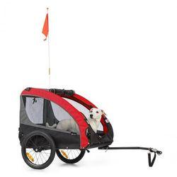 KLARFIT Husky Race, przyczepka rowerowa do przewozu psów, 282 l, 40 kg, płótno Oxford 600D, czerwona