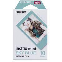 Klisze fotograficzne, Fujifilm Instax Mini niebieska ramka 10 szt. - produkt w magazynie - szybka wysyłka!
