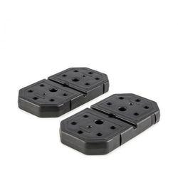 KLARFIT 2 x 7 kg Obciążniki, tworzywo sztuczne odporne na uderzenia, kolor czarny
