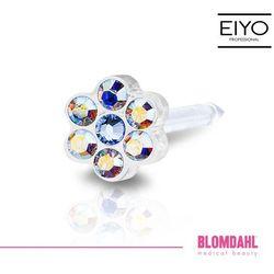 Kolczyk do przekłuwania uszu Blomdahl - Daisy Rainbow / Alexandrite 5 mm