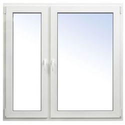 Okno PCV rozwierno-uchylne + rozwierne 1465 x 1435 mm lewe białe