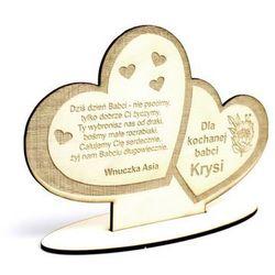 Dekoracja personalizowana serce na dzień babci i dziadka