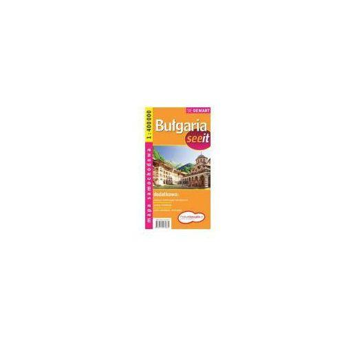 Mapy i atlasy turystyczne, Bułgaria. Mapa samochodowa w skali 1:400 000 (opr. broszurowa)