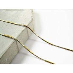 Piękny srebrny (925) łańcuszek LINKA złocona 50 cm