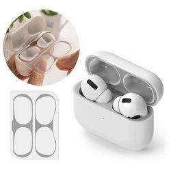 Ringke 2x folia ochronna naklejka osłony przeciw kurzowi do etui bazy słuchawek Apple AirPods Pro srebrny (ACER0004)