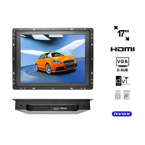 """Monitory samochodowe, Monitor open frame LED 17"""" VGA HDMI USB 12V 230V"""