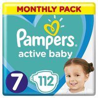 Pieluchy jednorazowe, Pampers pieluszki Pampers Active Baby miesięczne opakowanie rozmiar 7