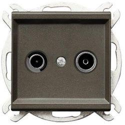 Gniazdo RTV przelotowe czekoladowy metalik GPA-10RP/m/40 SONATA