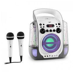Kara Liquida zestaw karaoke CD USB MP3 strumień wodny LED 2 x mikrofon mobilny