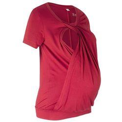 Shirt ciążowy i do karmienia, krótki rękaw bonprix ciemnoczerwony
