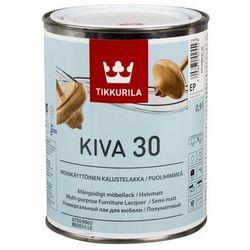 TIKKURILA KIVA [30]- nieżółknący, półmatowy lakier do drewna, 0.9 l