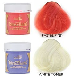 La Riche Directions   Zestaw tonerów koloryzujących: kolor Pastel Pink 88ml + kolor White 88ml