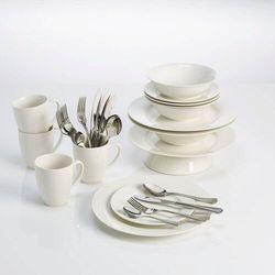 Maxwell & Williams - Basics Round - Zestaw obiadowo - kawowy na 4 osoby