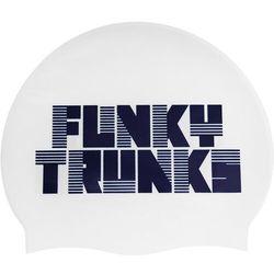 Funky Trunks Silicone Swimming Cap Mężczyźni, biały 2020 Czepki pływackie Przy złożeniu zamówienia do godziny 16 ( od Pon. do Pt., wszystkie metody płatności z wyjątkiem przelewu bankowego), wysyłka odbędzie się tego samego dnia.