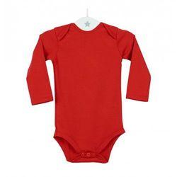 Dziecięce body długi rękaw czerwone