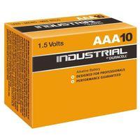 Baterie, 10 x bateria alkaliczna Duracell Industrial LR03 AAA