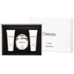 Calvin Klein Obsessed, Zestaw podarunkowy, woda perfumowana 100ml + mleczko do ciała 100ml + Żel pod prysznic 100ml