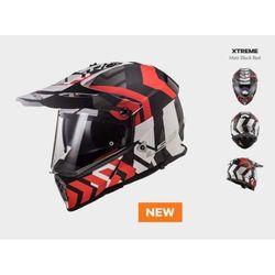 KASK MOTOCYKLOWY ENDURO LS2 MX436 PIONEER XTREME MATT BLACK RED