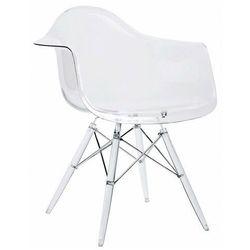 Bezbarwny fotel do salonu - Patrix