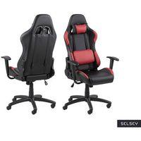 Fotele dla graczy, SELSEY Fotel gamingowy Bedollo czarno-czerwony