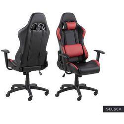 SELSEY Fotel gamingowy Bedollo czarno-czerwony