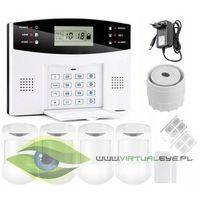 Zestawy alarmowe, Bezprzewodowy alarm GSM + 5 czujek + syrena VSGSM30A