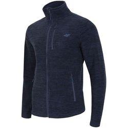 Bluza polarowa męska 4F PLM001 granatowy melanż - Męskie \ granatowy melanż 4f na m14 (-30%)