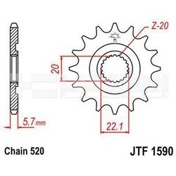 Zębatka przednia JT F1590-13 SC, 13Z, rozmiar 520 2201164 Yamaha YZ 125, WR 250